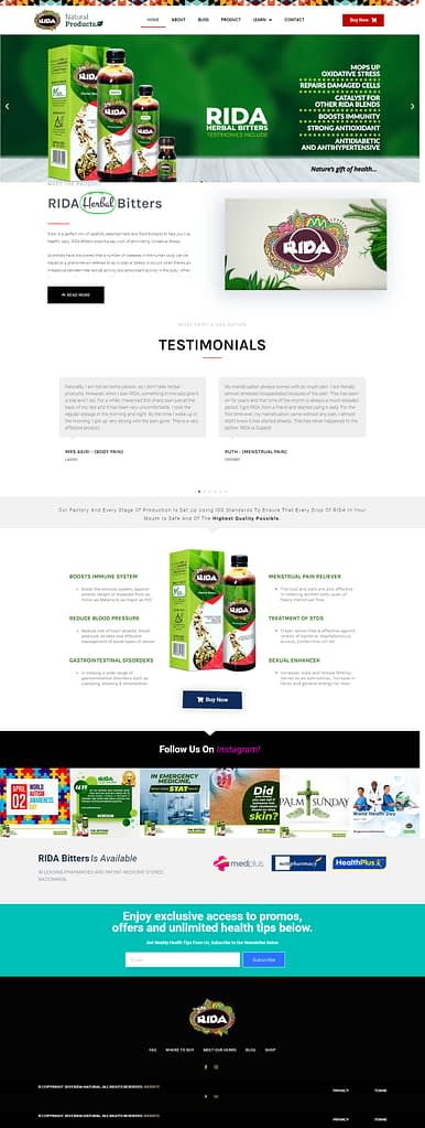 RIDA Herbal Bitters – The Bitters You Can Trust